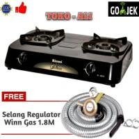 Jual Paket Rinnai RI-302S Kompor Gas 2 Tungku + Selang Regulator Winn Murah