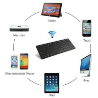 Bluetooth Keyboard Andoid iOS Windows utk Smartphone iPhone dan PC
