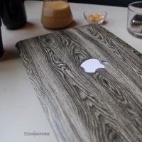 Jual mac book macbook Pro Retina 15 inch hard case mac cover skin wood kayu Murah