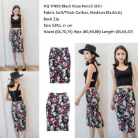 76ed70c34 Black Rose Pencil Skirt (size S.M.L)
