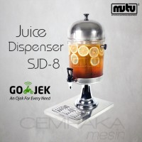 Juice Dispenser Stainless SJD-8 | Jus Dispenser Single Khsusus Gojek