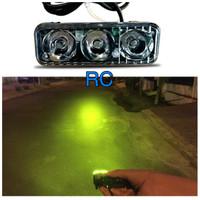 lampu sorot worklight drl foglamp motor mobil led 3 mata TEMBUS KABUT