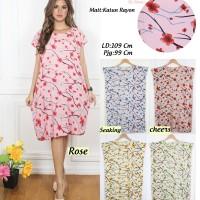 Beli 1 gratis 5 Dress Midi baju casual motif trendy SAKURA (5 Warna)