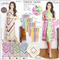 Beli 1 gratis 5 Dress Midi baju casual motif trendy (5 Warna) KANIA