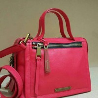 Fossil Bella Satchel Red Small. Tas Fossil Original