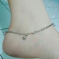 gelang laki perak 925/perhiasan silver 925 lapis emas putih