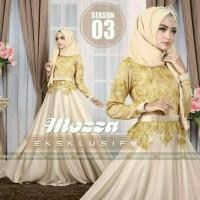 dress muslim mozz, jersey eksklusif + brokat import + pash