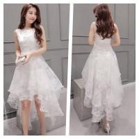 Jual Dress Wanita Korea Import Baju Wanita Organza Chiffon Party 547 Murah