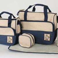 258 Diaper bag Tas Perlengkapan bayi travelling bag 5 IN 1 multifungsi