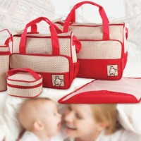 258 Diaper bag Tas Perlengkapan bayi travelling bag 5 IN 1 multifungsi