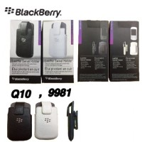 Sarung Pinggang Kulit Holster Blackberry Q10 / 9981 / Porche jepit