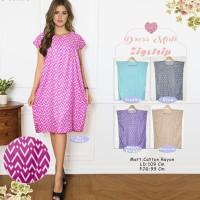 Dress Midi baju casual motif ZIGSTRIP (Dapat 5 Warna)BELI 1 GRATIS 5