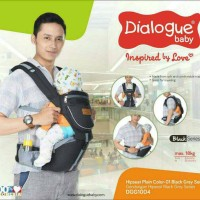 Dialogue Baby Gendongan Bayi HipSeat Black Series DGG1004