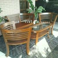 set kursi tamu cantik, kursi tamu minimalis, kursi cafe, kursi makan