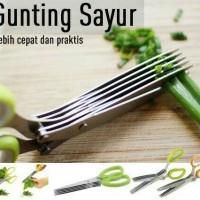 Jual Gunting Sayur 5 Lapis / Kitchen Scissors 5 Blades / Gunting Serbaguna Murah