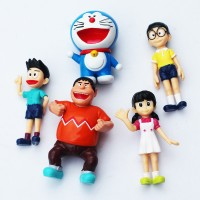 Jual Figure Doraemon STAND BY ME Set 5 Char - Hiasan Kue Murah