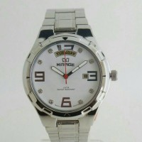 JAM TANGAN MIRAGE 7804 SILVER WHITE MEN ORIGINAL