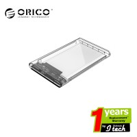 "ORICO Case External Hardisk 2.5"" SATA Enclosure 2139U3 Transparent"