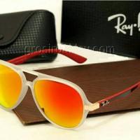kacamata rayban rb4183 clear red fire