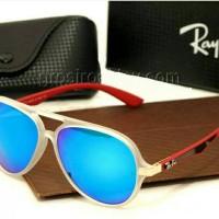 kacamata rayban rb4183 clear red blue lens