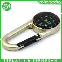 Travel Compass with Carabiner / Kompas Camping Portable