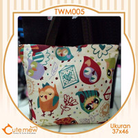 Cutemew Bag Cutemew Bordir Import Owl Shy Terlaris