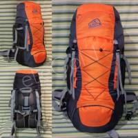 Tas Ransel Carrier Gunung Sioux 50 Liter Orange Original