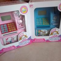 Celengan ATM mini Hello Kitty Doraemon