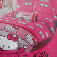 Jual Sprei Lady Rose 180 Motif Kitty & Daniel Pink Murah