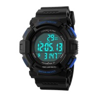 Harga skmei pedometer jam tangan pria black rubber strap 1116 | Pembandingharga.com
