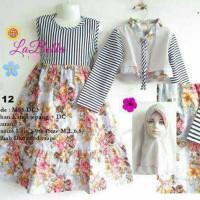 Jual Baju Muslim Anak Labella (Usia 3-6th) MS8-DC3 Coklat No.12 Murah