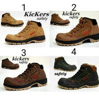 Sepatu Boots Kickers Safety Pria Casual Boot Murah Nike Adidas