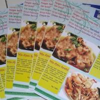 Cetak Brosur makanan Full Color Promo Idul Fitri