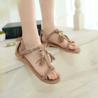 harga Flatshoes Sendal Sandal Teplek Pita Rumbai Um18 Mocca Tokopedia.com
