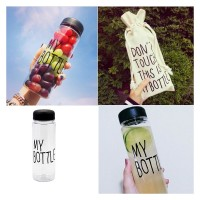 My Bottle Plastik Bening Botol juice Botol Air minum Plastik 501-600ml