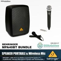 Paket Speaker Portable Aktif Behringer MPA40BT Wireless Mic ULM300USB