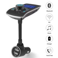T12 FM Transmitter Wireless In-Car Bluetooth Receiver Stereo Radio