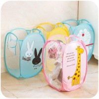 Bucket Storage Dirty Laundry Basket Bag Clothes Storage Keranjang Baju