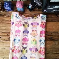 Jual kaos owl burung hantu vintage style import korea shirt tee Murah