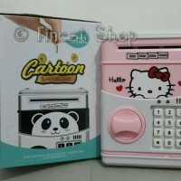 Jual Celengan Brankas Deposit Bank Mainan Tabungan Doraemon Kitty Minion Murah