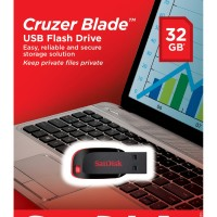 Flashdisk Sandisk 32 Gb Cruzer Blade Usb Flash Drive Original Memory