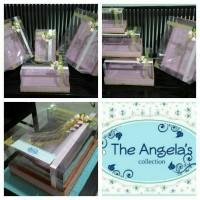 Kotak / Box Hantaran seserahan Baby pink + gold