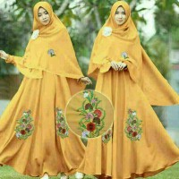 Baju Setelan Wanita Dress Gamis Muslim H376