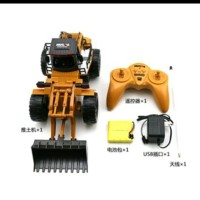 HuiNa Toys1520 6 Channel 1/14 mainan RC Metal Bulldozer Limited
