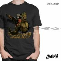 Jual Kaos 3D Rocket & Groot | Kaos Guardian Of The Galaxy | Baju Kaos 3D Murah