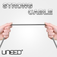 Jual UNEED Kabel Micro USB Stainless Steel Quick Charge & Data Cable Xiaomi Murah