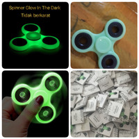 Fidget Spinner GLOW IN THE DARK / lampu / nyala