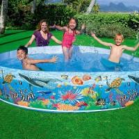 Kolam Renang anak JUMBO INTEX Tanpa Pompa 244cm SNAPSET POOL 58472
