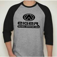 Kaos tshirt outdoor raglan eiger passion for adventure