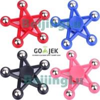 Jual Fidget Hand Spinner Gear Mainan Ceramic - Bintang Kaki 5 Star Murah
